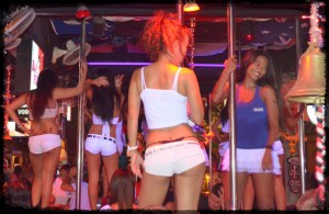 Bar girls in a Pattaya GoGo bar