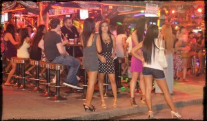 Bar girls in South Pattaya