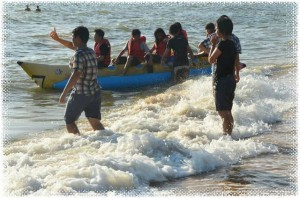 Banana boat ride on Jomtien beach