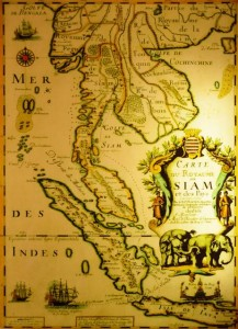 Ancient map of Siam and South-East Asia