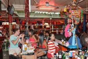 Open-air bar in South Pattaya