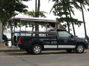 Baht-bus taxi on Jomtien beach
