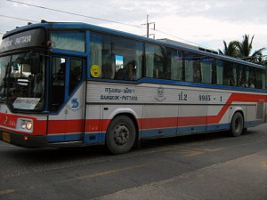Public bus from Bangkok to Pattaya