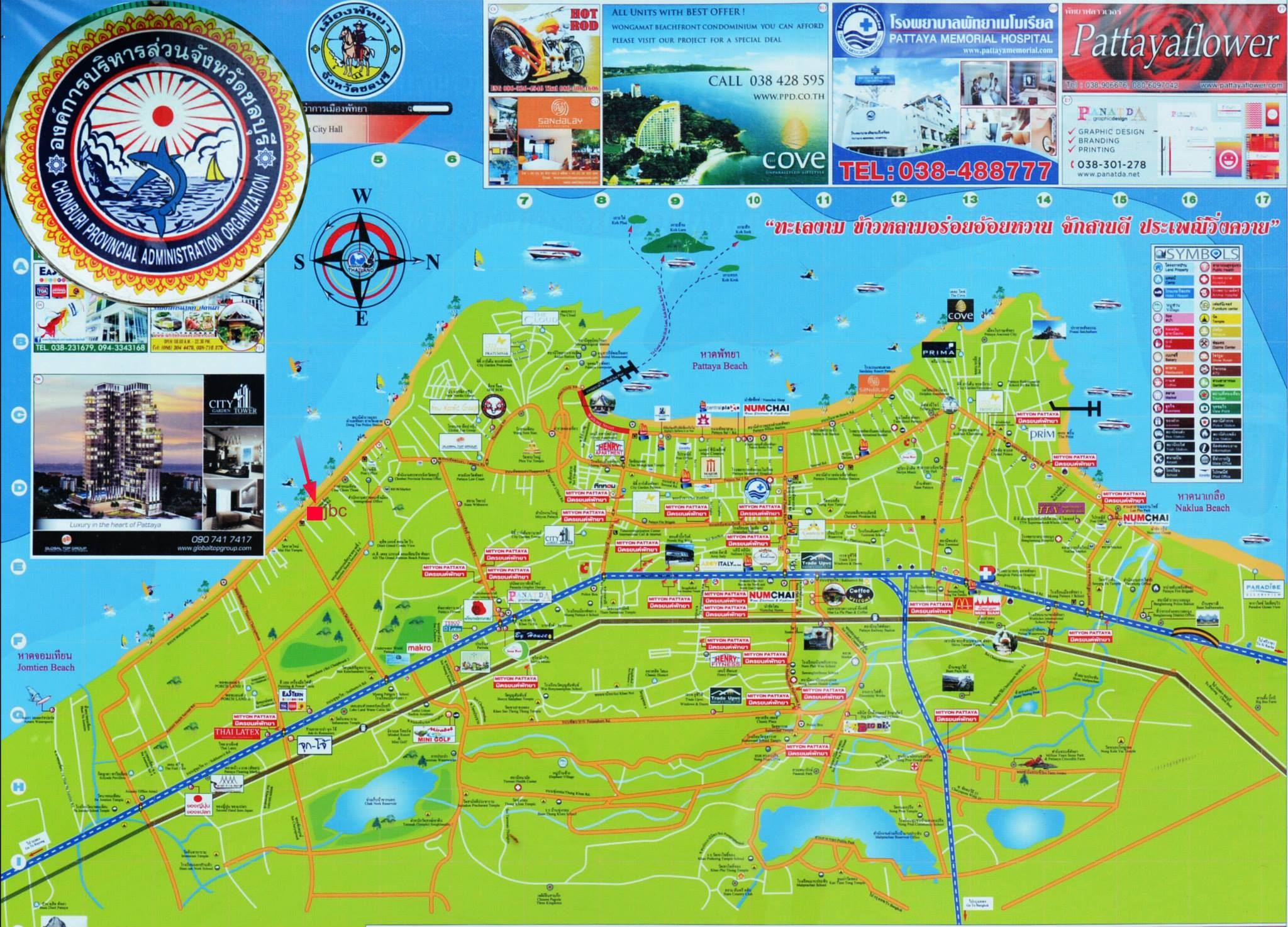 Map of Pattaya
