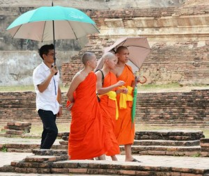 Buddhist novices in Ayutthaya