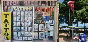 Tattoo shop in Pattaya