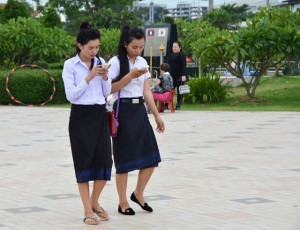 Lao girls in Vientiane