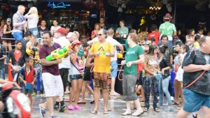 Songkran water festival on Pattaya Soi 7