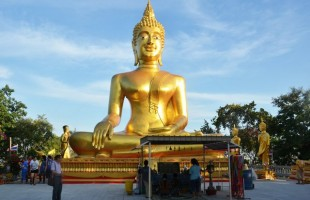 Golden Buddha statue in South Pattaya