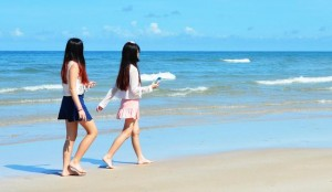 Female Asian tourists on Koh Chang