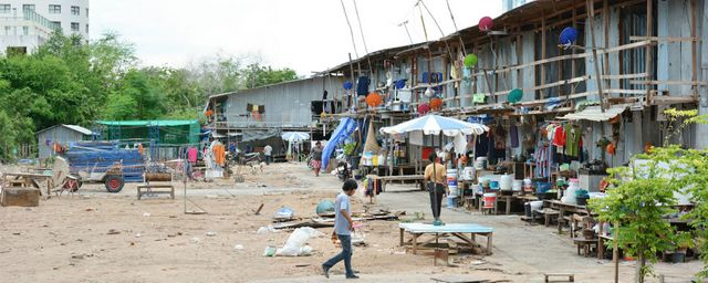 Work camp slum in Pattaya