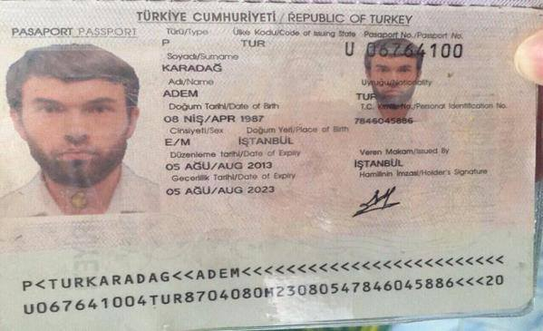 Fake Turkish passport