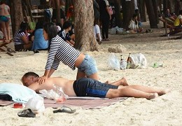 Thai massage on Jomtien beach