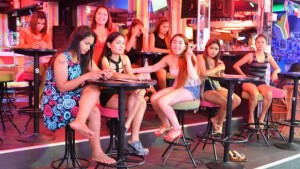Pattaya bar girls on Walking Street