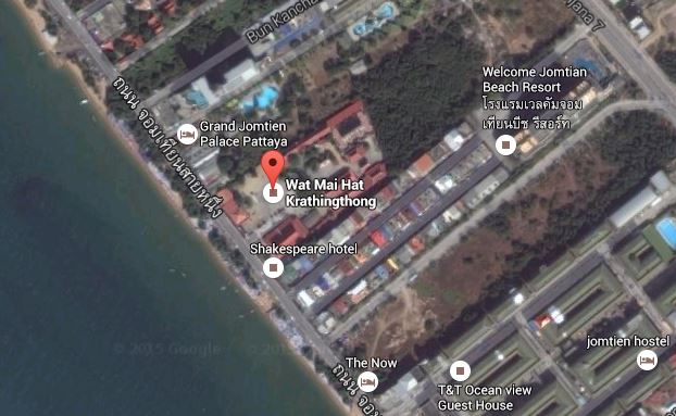 Russian Man Found Hanged at Temple on Jomtien Beach