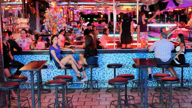 Open-air bar complex on Walking Street