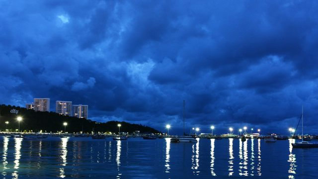 Pattaya bay after dark