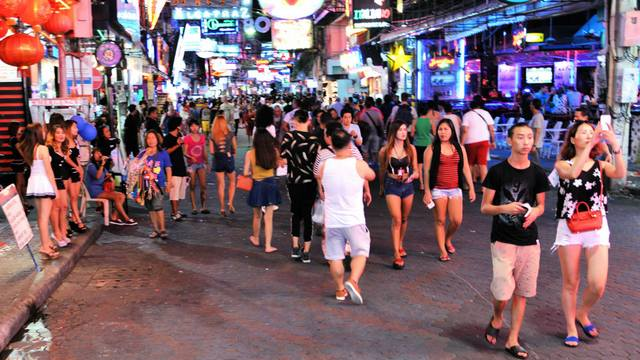 Walking Street after dark 2015
