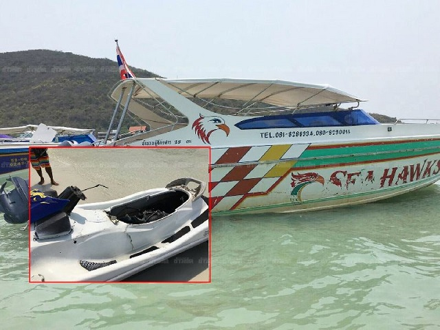 Chinese Tourist Killed in Jet Ski Accident off Koh Larn