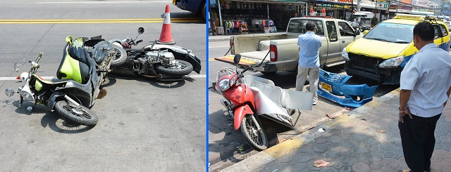 File photo: motorbike accidents in Pattaya