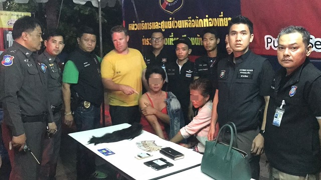 Ladyboys Arrested for Robbing Australian Tourist on Pattaya Beach