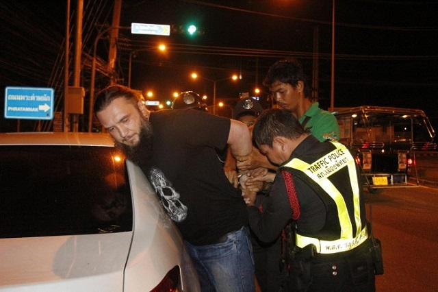 Russian Expat Couple Resist Arrest at Pattaya Alcohol Checkpoint