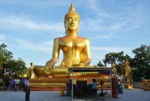 Golden Buddha statue on Pratamnak hill