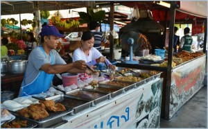 Typical food market in Pattaya