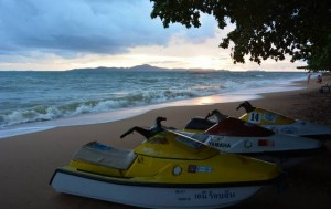 Jet skis on Jomtien beach