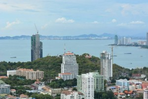 Pratamnak hill area and Pattaya bay