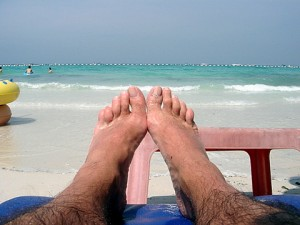 Relaxed sunbathing on Koh Larn