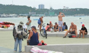 Pattaya beach road promenade