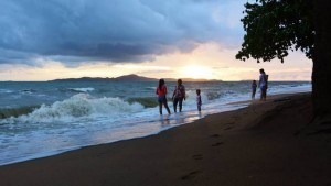 Late afternoon on Jomtien beach