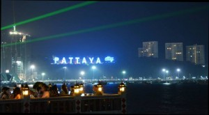 Pattaya by night skyline