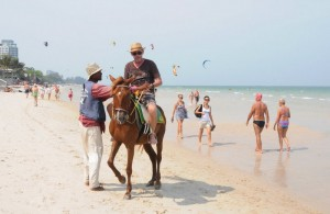 Horse riding on Jomtien beach
