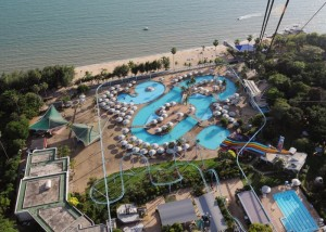 Pattaya water park from Pattaya Park tower