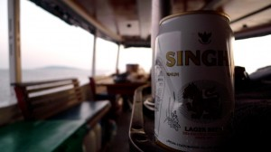 Can of Singha beer