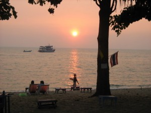 Sunset on Jomtien beach