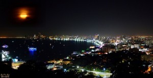 Pattaya city view by night