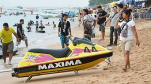 Jet ski on Jomtien beach