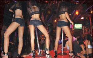 Coyote dancers in Pattaya GoGo bar