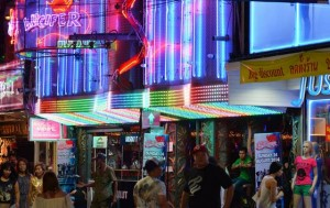 Walking Street after dark