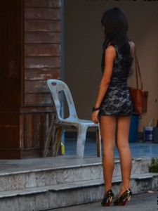 Lonely bar girl in Pattaya