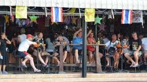 Open-air beer bar in Pattaya