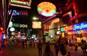 Walking Street neon lights