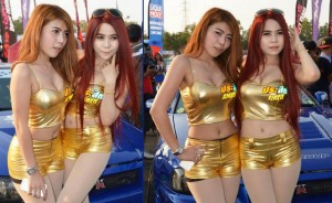 Sexy Thai pretties at a car show