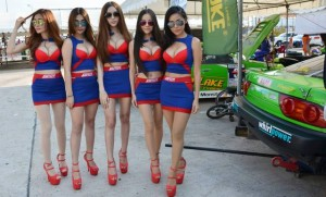 Thai pretties at a racing event in Pattaya