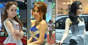 Cute Thai pretties at a motor show