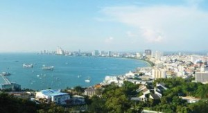Pattaya bay from Pratamnak hill viewpoint