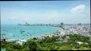 Pattaya bay and city area